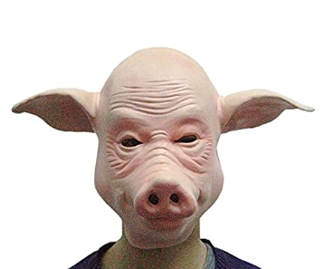 halloween party performance props halloween supplies animal masks bald pig mask headgear