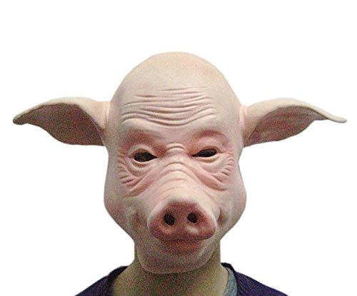 Bald Pig Mask Headgear
