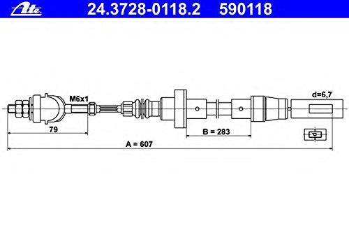 ATE 24.3728-0118.2 Seilzug, Kupplungsbetä tigung Continental AG