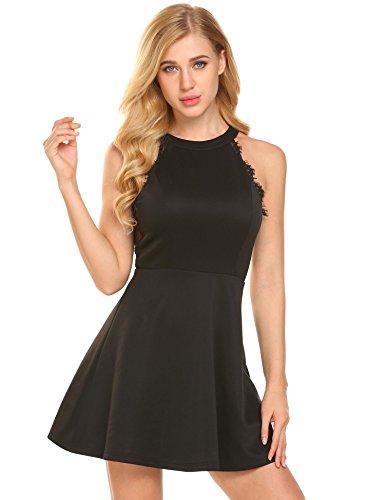 halter neck backless dresses - 5