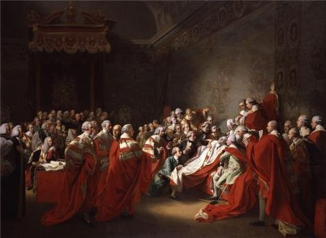 Perfect Effect Canvas ,the High Quality Art Decorative Canvas Prints Of Oil Painting 'John Singleton Copley - The Collapse Of The Earl Of Chatham In The House Of Lords 7 July 1778, 1779-80', 10x14 Inch / 25x35 Cm Is Best For Dining Room Decor And Home Gallery Art And Gifts