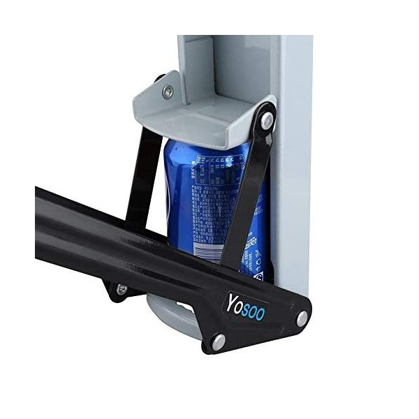 lyrlody-Pressa-LattineSchiaccialattine-in-MetalloCompattatore-di-LattineFrantoio-per-Lattine-con-Apribottiglie-Soft-Grip-Handle106-8-32cm