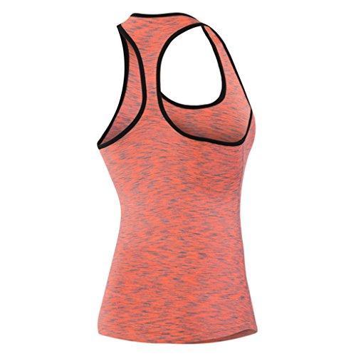 Qutool–Camiseta de tirantes para mujer, para hacer deporte, correr o yoga. rojo