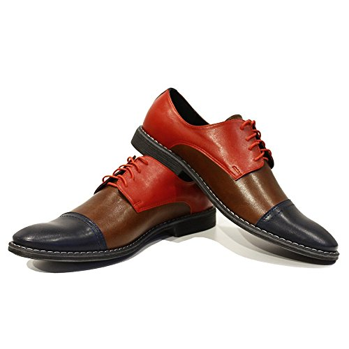 Modello Rocco - main en cuir italien Colorful Chaussures uniques Hommes