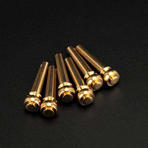 (A set of six pure copper studs of a guitar string Folk guitar solid cone The guitar brass string column Extended fermata)