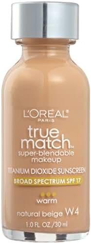 L'Oreal Paris True Match Super-Blendable Makeup, Natural Beige, 1 fl. oz.