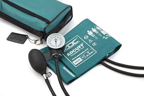 American Diagnostic 768-11ATL - Esfigmomanómetro aneroide de bolsillo con puños de presión arterial de nailon para adulto y maletín de transporte, color azul: Amazon.es: Industria, empresas y ciencia
