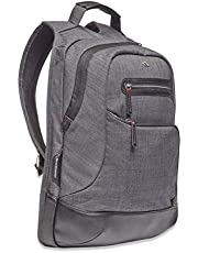 Brenthaven Collins Laptop Backpack | Highly Protective Quilted Compartments PVC-Free Vegan Leather Trim Chambray Exterior | Fits 15-Inch Laptops MacBooks Chromebooks Tablets | Gray