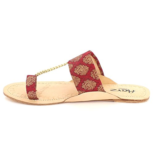 London Chappal D Femmes Dames Aarz Open Toe Kolhapuri Authentique dwqOcaT