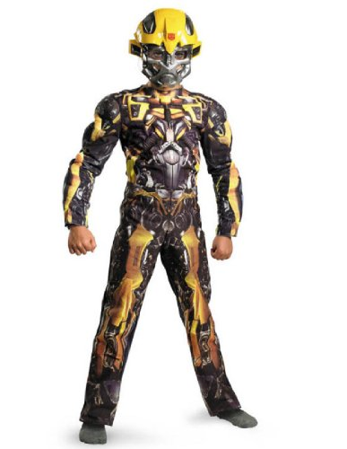 [Disguise Costumes bumblebee classic muscle costume Multi] (Baseball Costume Accessories)