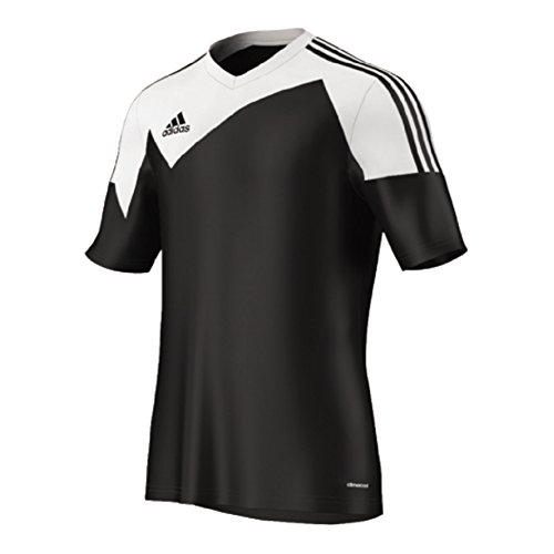 - Adidas Toque 13 Mens Short Sleeve Jersey M Black-White