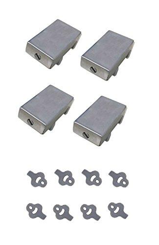 Door Steel Stop Door (Do4U Door Window Lock Stopper Adjustable Thick Sliding Window Lock Safety Anti-Slip Stainless Steel Sto (4pcs Silver))