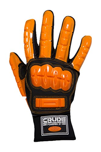 CrudeHands 9075-G1-SS-2XL Smart Skin Warm Weather Impact Gloves, XX-Large, Black/Orange