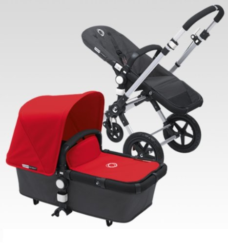 Bugaboo Cameleon 3 Stroller With New Extendable Sun Canopy (Red) by Bugaboo
