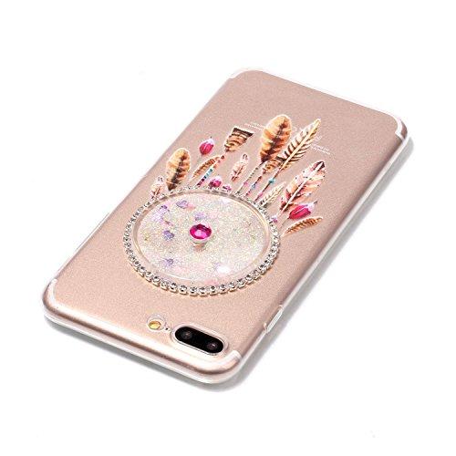 LuckyW Silicone Case for Apple iPhone 5 5S SE Phone Case Dreamcatcher Sandblasting Fluid [Scratch-resistant, dust-proof, shockproof, anti-fingerprint]-Azul claro Blanco