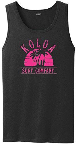 Koloa Surf Surfboards at Sunset Logo Heavyweight Cotton Tank Top-Black/Pink-S