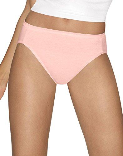 Hanes Women's Ultimate Comfort Cotton Hi-Cut Panties 5-Pack