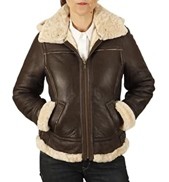 Womens brown leather flying jacket – Modern fashion jacket photo blog