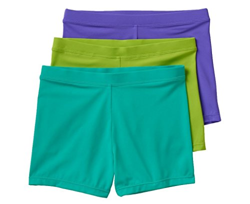 Maidenform 3-pack Playground Pals Mini-shorts (X-Small / 4/5, Purple Lime Atlantis)