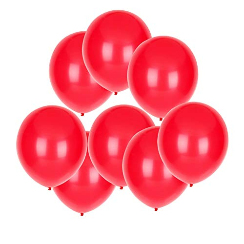 GuassLee 100 ct Red Balloon 10 Latex Helium Balloons for Wedding Birthday Party Festival Christmas Decorations