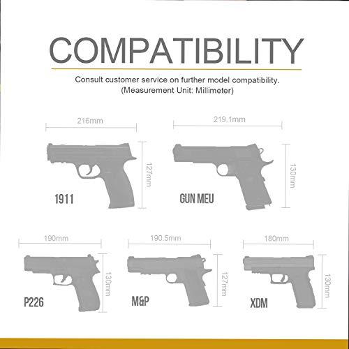 OneTigris Etui/Holster à Pistolet Molle Tactique Militaire avec Porte Chargeur pour 1911 45 92 96 Glock 2