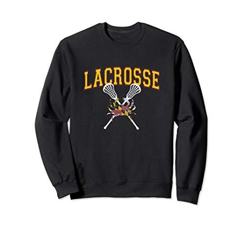 8809765f Maryland Crab Lacrosse Crossed Sticks LAX MD Flag Boys Girls Sweatshirt