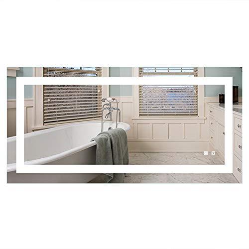 Bonnlo Led Bathroom Mirror LED Lighted Wall Mounted Mirror for Bathroom Dimmable - Bathroom Mirrors Fitting Led An