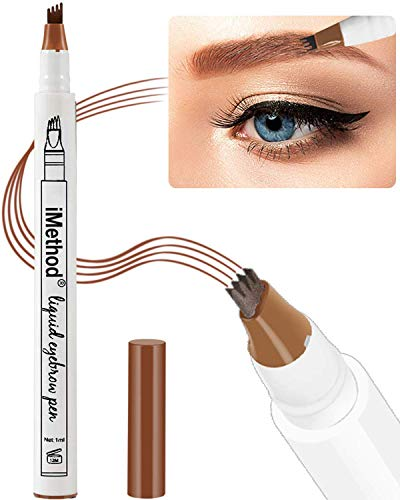 (Eyebrow Tattoo Pen - Microblading Eyebrow Pencil with a Micro-Fork Tip Applicator Creates Natural Looking Brows Effortlessly and Stays on All Day, Light Reddish)