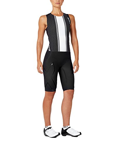 2XU Womens Project X Swim Skin, Black/White Graphic, Large by 2XU