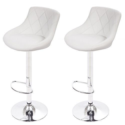 Bar Stools Set Counter Height Adjustable Swivel Stools,Set of 2
