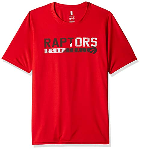 - Outerstuff NBA NBA Youth Boys Toronto Raptors Possession Short Sleeve Dri Tek Tee, Red, Youth Large(14-16)
