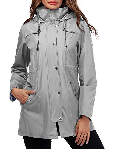 ladies hooded raincoat - 9