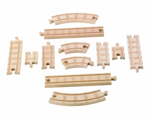 Fisher-Price Thomas & Friends Wooden Railway, Straight and Curved Expansion ()
