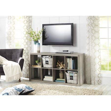 Better Homes and Gardens 8 Cube Storage Organizer, Multiple Colors Rustic Grey