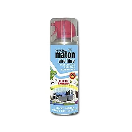 VINFER Insecticida Matón Aire libre. Insecticida especial exteriores. Aerosol 400 ml. Eficaz contra