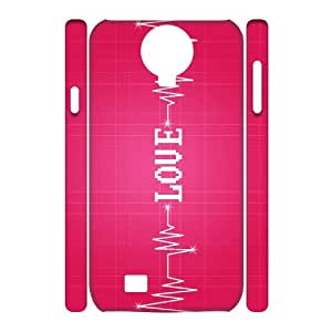 YNFYC Love Pink2 Phone 3D Case For Samsung Galaxy S4 i9500 [Pattern-1]