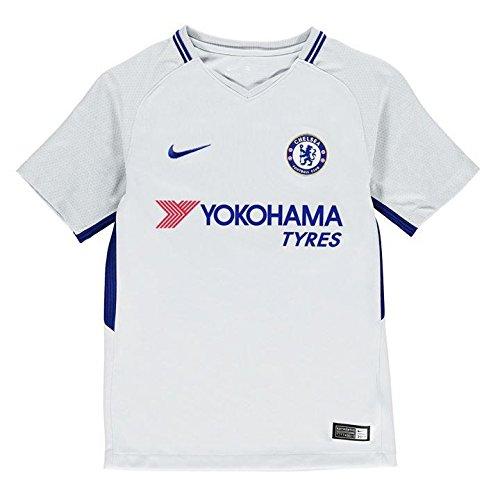e43809ae352 Nike Breathe Kids' Chelsea FC Away Stadium Soccer Jersey (Youth Medium)  Pure Platinum