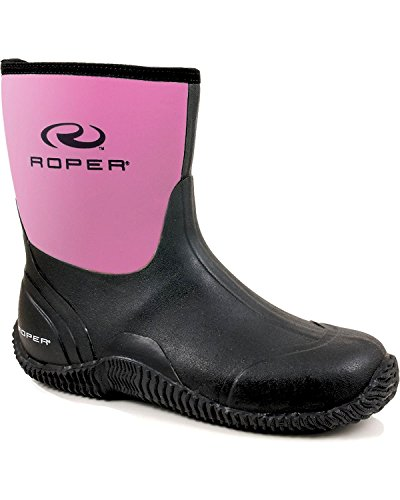Roper Women's Barnyard Lady Rain Shoe, Black, 9 M US by Roper