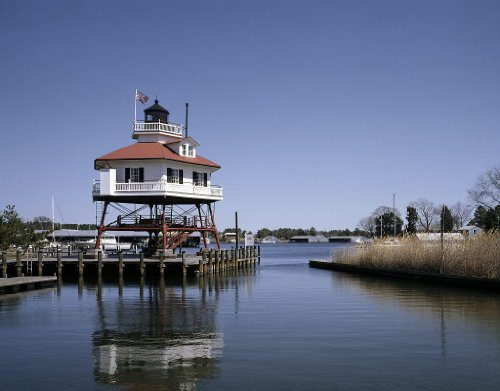 Maryland Lighthouse (Photography Poster - Drum Point Lighthouse Solomons Maryland 24 X)