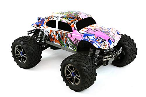 Compatible Custom Body Graffiti Pink Pig Style Replacement for 1/10 1/8 Scale RC Car or Truck (Truck not Included) B-PIG-01 ()