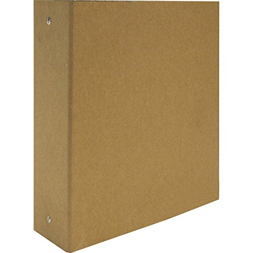 Aurora 3-Inch Capacity Three Ring Brown Kraft Recycled Binder (10274)