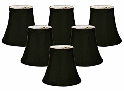 Royal designs chandelier lamp shades soft bell black
