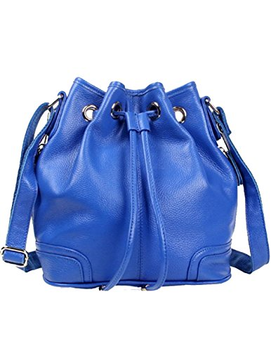 Leather Bag Spalla Dello Di Moda Blu Menschwear Lady Genuine Della Donne Backpack Zaino Scuola qwnHB4