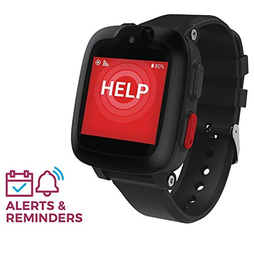 Freedom Guardian Mobile Watch Medical Alert System by Medical GuardianTM - GPS Bracelet, Emergency Location Device, 24/7 Alert Button for Seniors, Nationwide AT&T Cellular (1 Month Free) (Black)