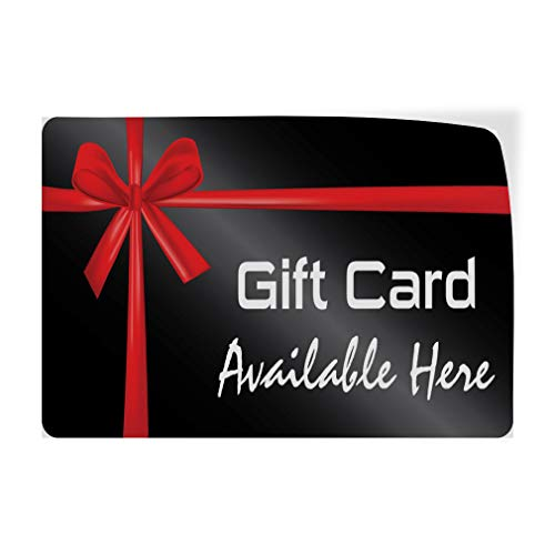 Decal Sticker Multiple Sizes Gift Card Available Here Business Style U Business Gift Card Available Here Outdoor Store Sign Black - 69inx46in, by Sign Destination (Image #5)