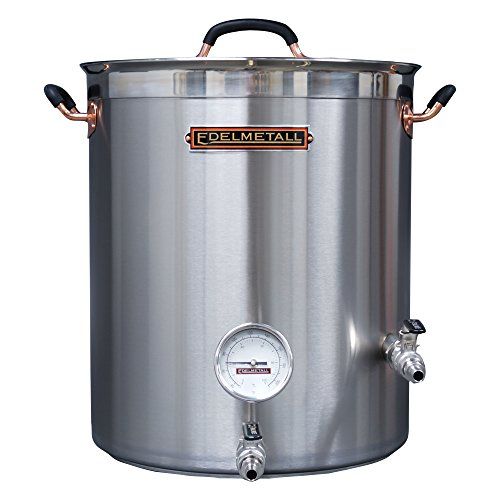 Northern Brewer Edelmetall Brü Kettle with Valve Bulkhead, Whirlpool Port & Thermometer – 30 gal.