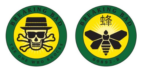 Mezco Breaking Bad Limited Edition Exclusive Challenge Coin Set - Heisenberg & Golden Moth Chemical