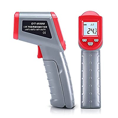 Digital Infrared Thermometer, Non-Contact IR Laser Temperature Gun - 50? to 500? / -58°F to 932°F with Backlit LCD Display Instant Reading for Cooking BBQ Automotive Industrial