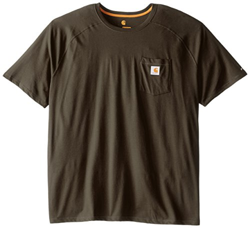 - Carhartt Men's Force Cotton Delmont Short Sleeve T-Shirt (Regular and Big & Tall Sizes), Moss, 3X-Large