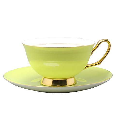 Colorful Coffee Cup and Saucer Sets (Green)